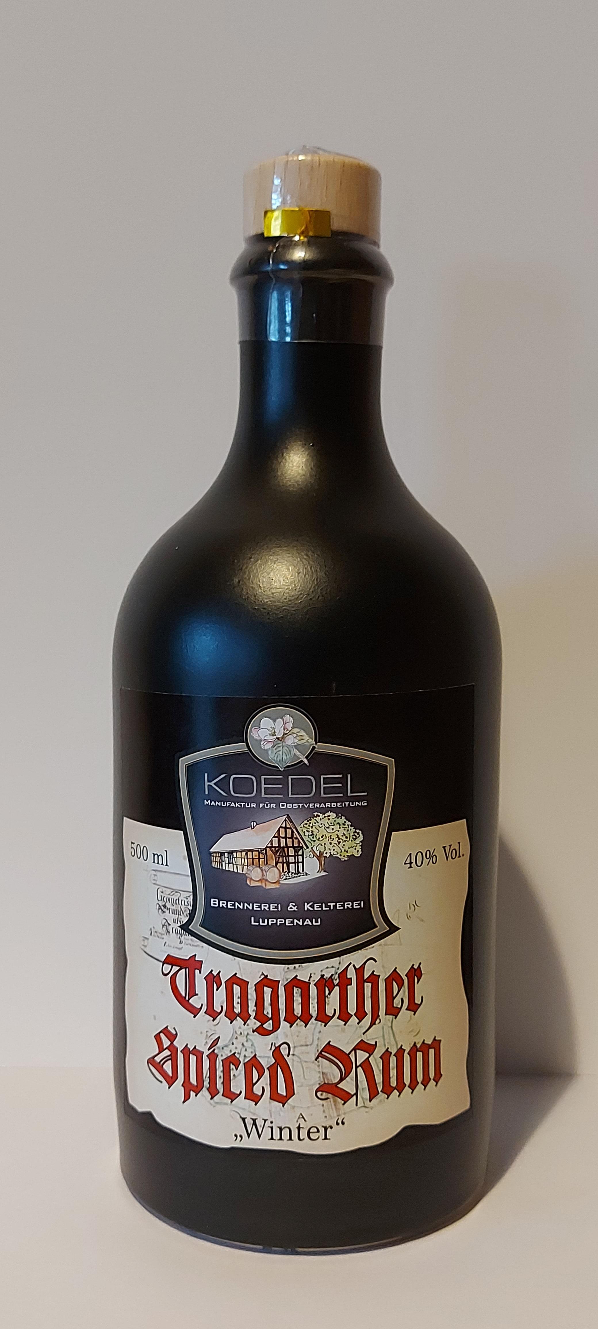 Tragrther Rum, Spiced Rum, Winter 500 ml