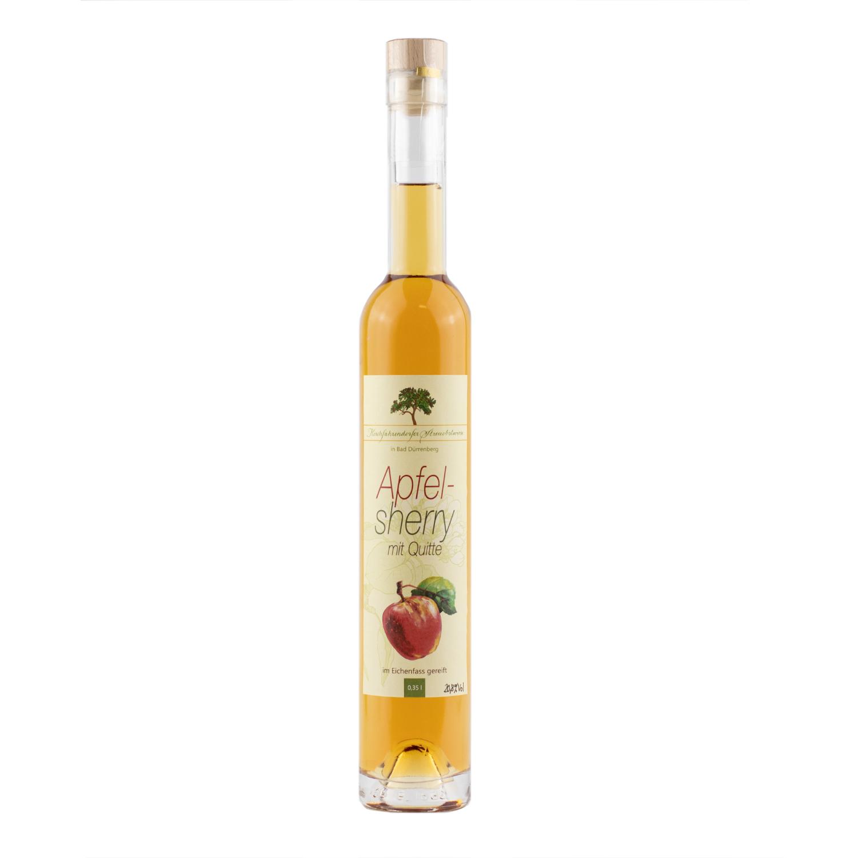 Apfelsherry mit Quitte, im Eichenfass gereift 350ml