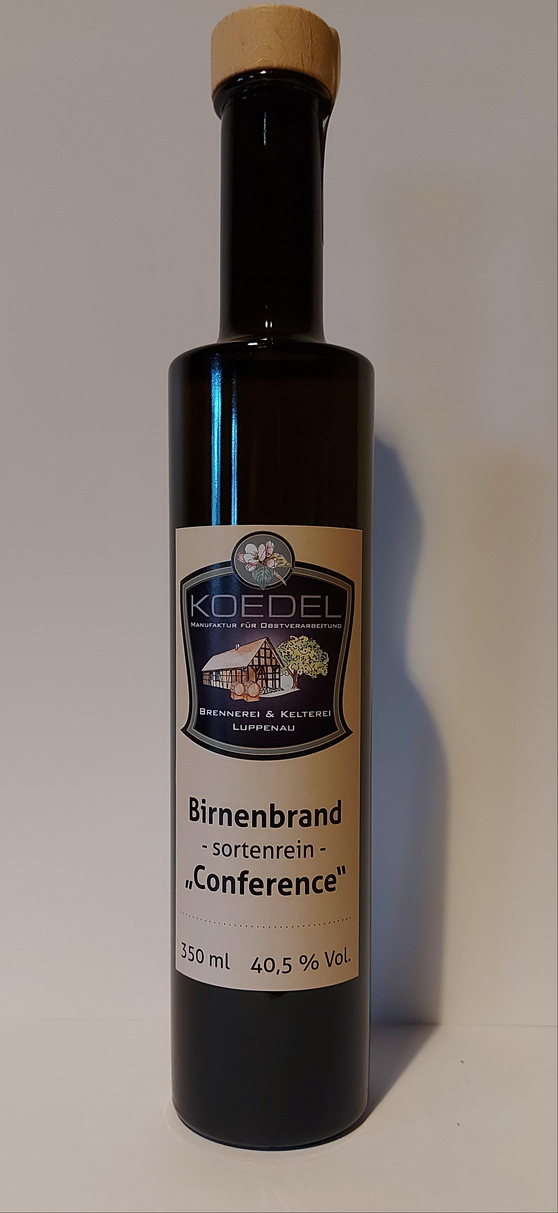 """Birnenbrand, sortenrein """"Conference""""  350 ml"""