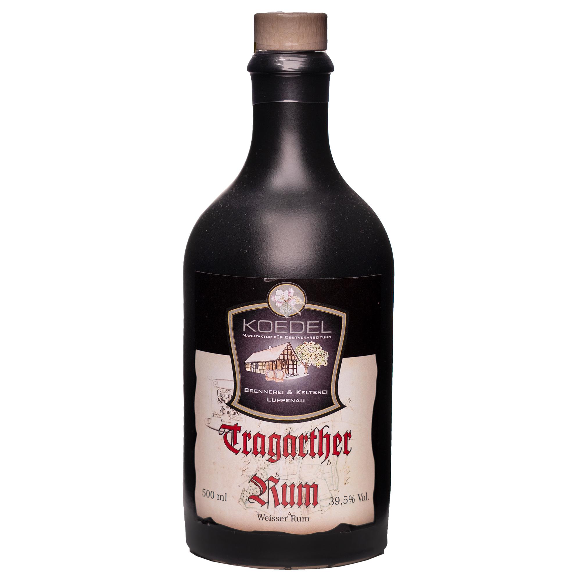 Tragarther Rum, weisser Rum 500ml