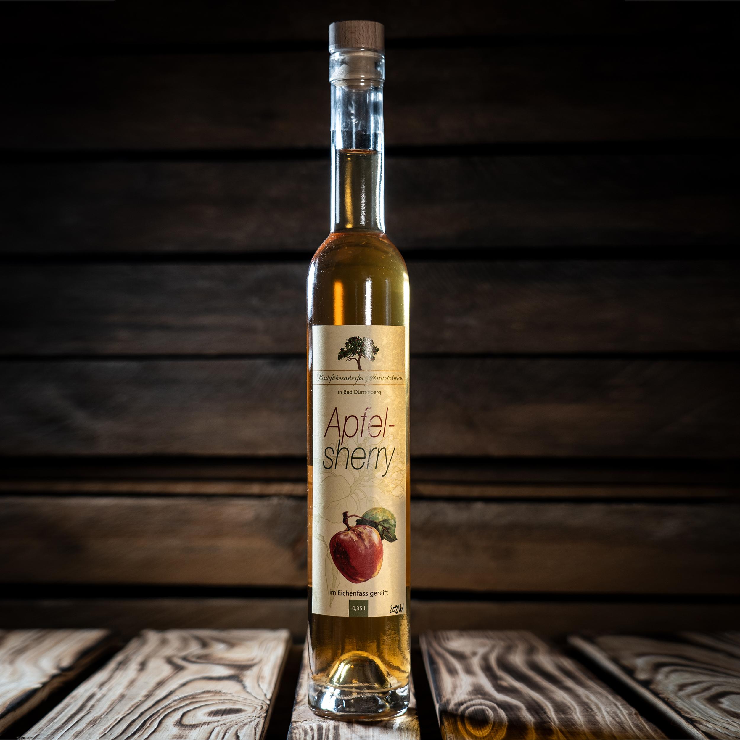 Apfelsherry, im Eichenfass gereift 350ml