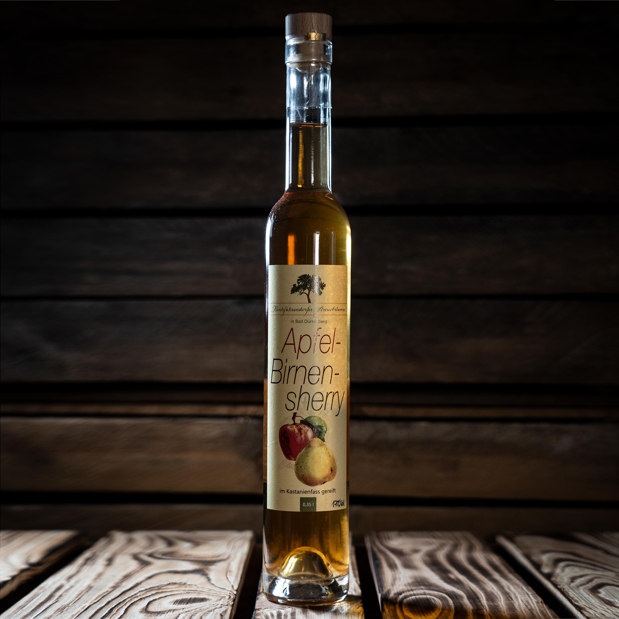 Apfel-Birnen Sherry, im Holzfass gereift 350ml